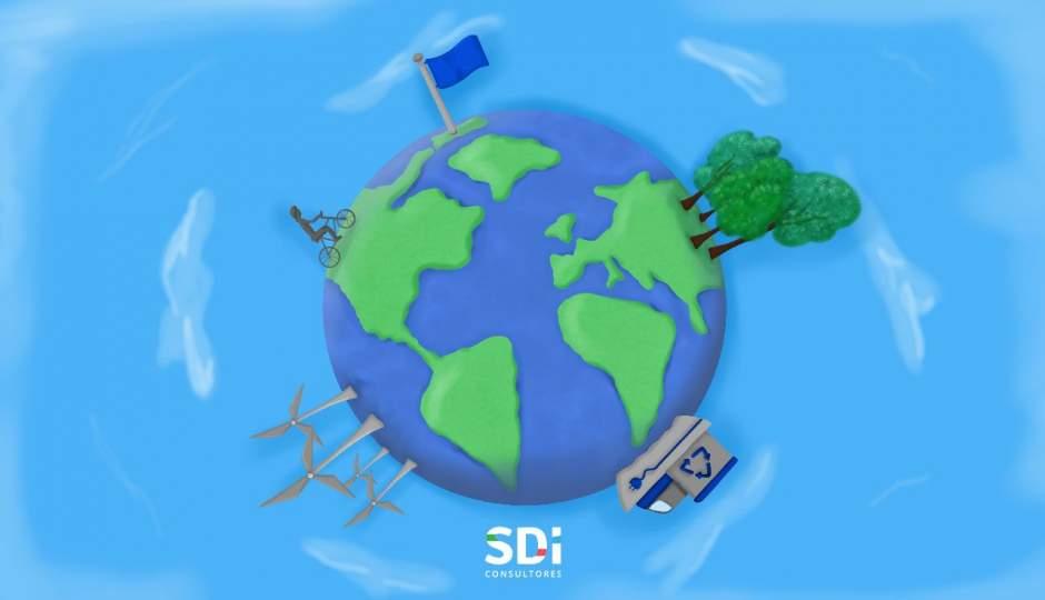 Bandera azul cambio climático